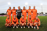 Sky Blue FC starting XI. Sky Blue FC and the Boston Breakers played to a 0-0 tie during a Women's Professional Soccer (WPS) match at Yurcak Field in Piscataway, NJ, on September 11, 2010.