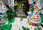 """Atmosphere at the Birthday Party Photo Call for the Wheelhouse Theater Company production of Kurt Vonnegut's """"Happy Birthday, Wanda June""""  on October 3, 2018 at Bond 45 Times Square in New York City."""