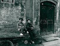 Altstadt (Hutong) in Peking, China 1976