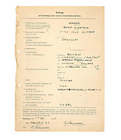 BNPS.co.uk (01202) 558833. <br /> Pic: Bonhams/BNPS<br /> <br /> A collection of travel documents relating to the Beatles legendary trips to Hamburg have sold at auction for almost £140,000.<br /> <br /> The documents, including John Lennon's VISA permits, date back to the early 60s, when the band would regularly play gigs in the German city.<br /> <br /> The first temporary residency permit is dated August 16, 1960 and lists all five members of the Beatles at that time (including drummer Pete Best) and their Liverpool addresses.