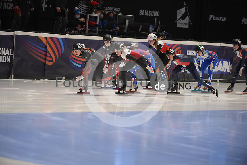 SPEEDSKATING: DORDRECHT: 06-03-2021, ISU World Short Track Speedskating Championships, SF 3000m Relay, (CAN), (POL), (FRA), ©photo Martin de Jong