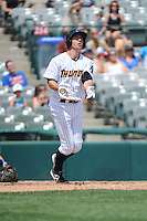 Trenton Thunder infielder Casey Stevenson (31) hits a home run during game against the Binghamton Mets at ARM & HAMMER Park on July 27, 2014 in Trenton, NJ.  Trenton defeated Binghamton 7-3.  (Tomasso DeRosa/Four Seam Images)