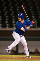 AZL Cubs 1 left fielder Chris Coghlan (8) at bat during a rehab start in an Arizona League game against the AZL Diamondbacks at Sloan Park on June 18, 2018 in Mesa, Arizona. AZL Diamondbacks defeated AZL Cubs 1 7-0. (Zachary Lucy/Four Seam Images)