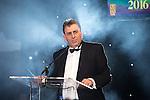 © Joel Goodman - 07973 332324 . 03/03/2016 . Manchester , UK . Eamonn O'neal presenting at the Manchester Legal Awards from the Midland Hotel . Photo credit : Joel Goodman