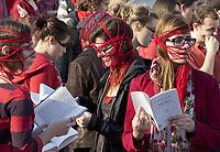 MANIFESTATION CONTRE HAUSSE DES DROITS DE SCOLARITE<br /> GREVE ETUDIANTS  MARCHE PEINT EN ROUGE<br /> PHOTO JACQUES NADEAU <br /> MARS 2012<br /> CONFLIT ETUDIANT<br /> HAUSSE DES DROITS DE SCOLARITE CONFLIT ETUDIANT CRISE GREVE
