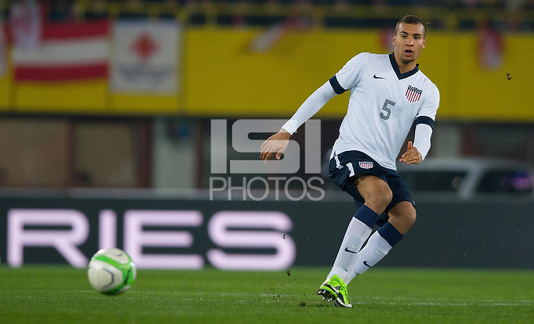 VIENNA, Austria - November 19, 2013: John Anthony Brooks during a 0-1 loss to host Austria during the international friendly match between Austria and the USA at Ernst-Happel-Stadium.