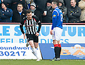 PARS ANDY KIRK CELEBRATES AFTER HE SCORES DUNFERMLINE'S FIRST GOAL