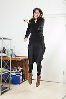 Portrait von Christina Peretti in ihrem Atelier an der Mythenstrasse 7 in Luzern am 16. Februar 2010<br /> <br /> Copyright © Zvonimir Pisonic