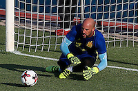 Spanish Pepe Reina during the first training of the concentration of Spanish football team at Ciudad del Futbol de Las Rozas before the qualifying for the Russia world cup in 2017 August 29, 2016. (ALTERPHOTOS/Rodrigo Jimenez) /NORTEPHOTO