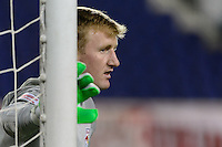 Harrison, NJ - Wednesday Feb. 22, 2017: Ryan Meara prior to a Scotiabank CONCACAF Champions League quarterfinal match between the New York Red Bulls and the Vancouver Whitecaps FC at Red Bull Arena.