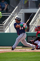 Minnesota Twins Willians Astudillo (64) bats during a Major League Spring Training game against the Boston Red Sox on March 17, 2021 at JetBlue Park in Fort Myers, Florida.  (Mike Janes/Four Seam Images)