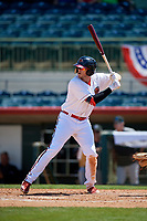 Florida Fire Frogs Greyson Jenista (30) at bat during a Florida State League game against the Jupiter Hammerheads on April 11, 2019 at Osceola County Stadium in Kissimmee, Florida.  Jupiter defeated Florida 2-0.  (Mike Janes/Four Seam Images)
