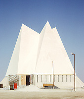Abu Dhabi, UAE, March 1972. Protestant Church Under Construction.