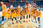 Herbalife Gran Canaria's player Bo McCalebb, Kyle Kuric, Royce O'Neale, Pablo Aguilar, Darko Planinic and Richard Hendrix during the final of Supercopa of Liga Endesa. September 24, Spain. 2016. (ALTERPHOTOS/BorjaB.Hojas)