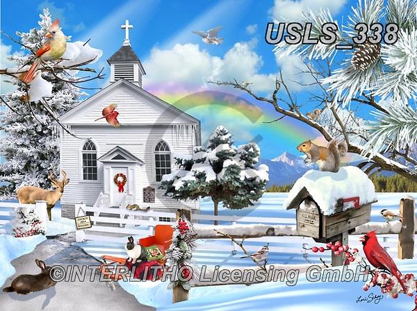 Lori, CHRISTMAS LANDSCAPES, WEIHNACHTEN WINTERLANDSCHAFTEN, NAVIDAD PAISAJES DE INVIERNO, paintings+++++Winter Church_8_10in_72,USLS338,#xl#