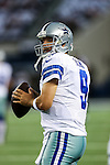 Dallas Cowboys quarterback Tony Romo (9) in action during the pre-season game between the Baltimore Ravens and the Dallas Cowboys at the AT & T stadium in Arlington, Texas. Baltimore defeats Dallas  37-30.