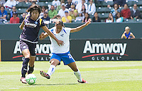 Boston Breakers Alex Scott attempts to steal the ball from LA Sol's Han Duan. The Boston Breakers and LA Sol played to a 0-0 draw at Home Depot Center stadium in Carson, California on Sunday May 10, 2009.   .