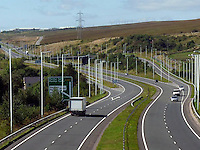 Pictured: A completed part of the A465, Heads of the Valleys road near Merthyr Tydfil.<br />