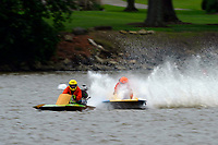 Frame 6: 300-P comes together with 911-Q, turns away and then is ejected from the boat.   (Outboard Hydroplanes)