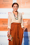 Claudia Molina poses for the photographers during 2015 Theater Ceres Awards photocall at Merida, Spain, August 27, 2015. <br /> (ALTERPHOTOS/BorjaB.Hojas)