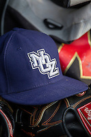 New Orleans Zephyrs hat on May 27, 2014 at the Dell Diamond in Round Rock, Texas. (Andrew Woolley/Four Seam Images)