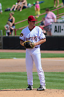 Wisconsin Timber Rattlers relief pitcher Brady Schanuel (30) on the mound during a game against the West Michigan Whitecaps on May 22, 2021 at Neuroscience Group Field at Fox Cities Stadium in Grand Chute, Wisconsin.  (Brad Krause/Four Seam Images)