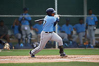 Tampa Bay Rays Luis Leon (97) bats during a Minor League Spring Training game against the Baltimore Orioles on March 16, 2019 at the Buck O'Neil Baseball Complex in Sarasota, Florida.  (Mike Janes/Four Seam Images)