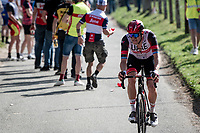 Alexander Kristoff (NOR/UAE-Emirates) atop the Trieu (aka 'Knokteberg')<br /> <br /> 76th Dwars door Vlaanderen 2021 (MEN1.UWT)<br /> 1 day race from Roeselare to Waregem (184km)<br /> <br /> ©kramon