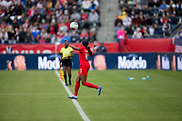 CARSON, CA - FEBRUARY 9: Ashley Lawerance #10 of Canada moves after the ball along the sideline during a game between Canada and USWNT at Dignity Health Sports Park on February 9, 2020 in Carson, California.