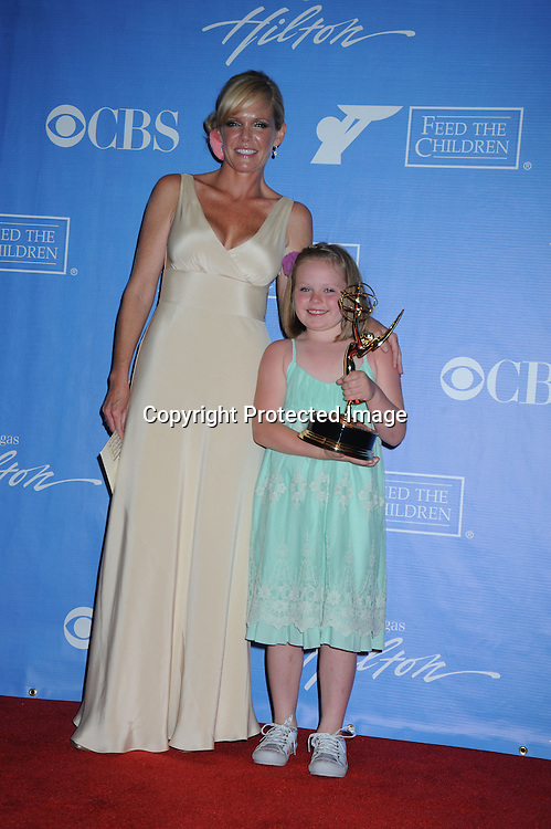 winner for actress Maura West, daughter Kate  posing in the press room from the Daytime Emmy Awards on June 27, 2010 at the Hilton at Las Vegas in Nevada.