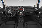 Stock photo of straight dashboard view of a 2015 MINI Cooper S 4 Door 4 Door Hatchback Dashboard