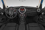 Stock photo of straight dashboard view of a 2015 MINI Cooper S 4 Door 4 Door Hatchback Dashboard