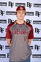 Brennan Holligan (17) of Arbor View High School in Las Vegas, Nevada during the Baseball Factory All-America Pre-Season Tournament, powered by Under Armour, on January 12, 2018 at Sloan Park Complex in Mesa, Arizona.  (Mike Janes/Four Seam Images)