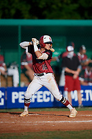 Parker Byrd (16) during the WWBA World Championship at Terry Park on October 10, 2020 in Fort Myers, Florida.  Parker Byrd, a resident of Laurinburg, North Carolina who attends Scotland High School, is committed to East Carolina.  (Mike Janes/Four Seam Images)