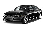 2015 Audi S6 Base 4 Door Sedan angular front stock photos of front three quarter view