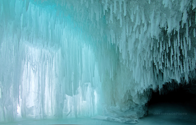 blue ice cavern, Lake Superior