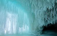 blue ice cavern, Lake Superior