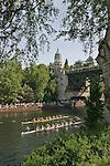 Seattle, Rowing, Windermere Cup, Regatta, Opening Day of Rowing Season, Pacific Northwest, Washington state, USA, Masters women rowers: Lake Washington Rowing Club leads Lake Union Crew,