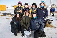 The canine P-team gathers for a group photo at the Nome dog lot on Wednesday March 14th during the 2018 Iditarod Sled Dog Race.  <br /> <br /> Photo by Jeff Schultz/SchultzPhoto.com  (C) 2018  ALL RIGHTS RESERVED