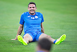 Spartak Trnava v St Johnstone...06.08.14  Europa League Qualifier 3rd Round<br /> Gary Miller all smiles during training in the FC Vion Satdium<br /> Picture by Graeme Hart.<br /> Copyright Perthshire Picture Agency<br /> Tel: 01738 623350  Mobile: 07990 594431