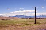 Big Sky Country along Montana Route 141, looking toward the Garnet Mountaiuns