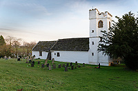 The church of St Cadoc in Llangattock Lingoed near Abergavenny in Monmouthshire, Wales, UK. Wednesday 09 January 2019