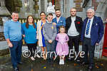Jack Daly, former Moyderwell NS student attending his Confirmation in St John's Church Tralee on Sunday. L to r: Maurice and Kathy Moriarty, Catherine, Jack, Katie and Moss Daly, Moss Moriarty and John Daly
