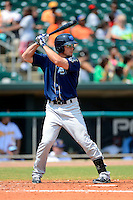 Mobile BayBears designated hitter Brent Clevlen #33 during a game against the Montgomery Biscuits on April 16, 2013 at Riverwalk Stadium in Montgomery, Alabama.  Montgomery defeated Mobile 9-3.  (Mike Janes/Four Seam Images)