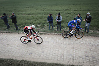 Tim Declercq (BEL/Deceuninck Quick Step), Edward Theuns (BEL/Trek Segafredo)<br /> <br /> 117th Paris-Roubaix (1.UWT)<br /> 1 Day Race: Compiègne-Roubaix (257km)<br /> <br /> ©kramon