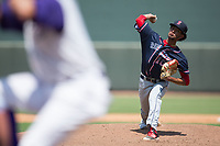 Salem Red Sox starting pitcher Roniel Raudes (10) in action against the Winston-Salem Dash at BB&T Ballpark on July 23, 2017 in Winston-Salem, North Carolina.  The Dash defeated the Red Sox 11-10 in 11 innings.  (Brian Westerholt/Four Seam Images)