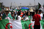 Algerian protesters march in an anti-government demonstration in the capital Algiers on August 09, 2019.  Photo by Taher Boussoualim