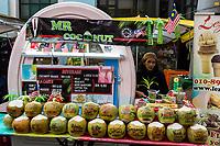 Coconut Water Vendor, Kuala Lumpur, Malaysia.