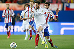 Atletico de Madrid's Raul Garcia (r) and Real Madrid's Isco during Champions League 2014/2015 Quarter-finals 1st leg match.April 14,2015. (ALTERPHOTOS/Acero)