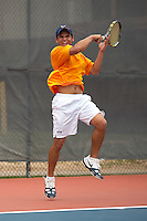 SAN ANTONIO, TX - APIL 23, 2007: The Texas A&M University Corpus Christi Islanders vs. The University of Texas at San Antonio Roadrunners at the Southland Conference Men's Tennis Championships at the UTSA Tennis Center. (Photo by Jeff Huehn)